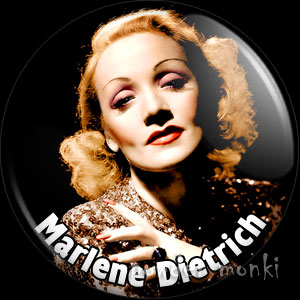 Marlene Dietrich - Retro Movie Star Badge/Magnet