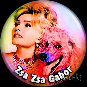 Zsa Zsa Gabor - Retro Movie Star Badge/Magnet