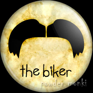 The Biker - Moustache Badge/Magnet