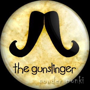 The Gunslinger - Moustache Badge/Magnet