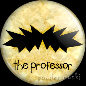 The Professor - Moustache Badge/Magnet
