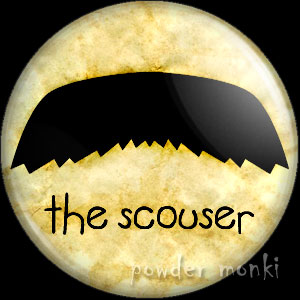 The Scouser - Moustache Badge/Magnet