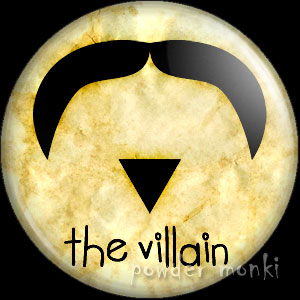 The Villain - Moustache Badge/Magnet