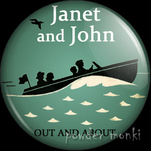"Janet & John ""Out And About"" - Badge/Magnet"