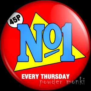 Number One - Music Magazine Badge/Magnet
