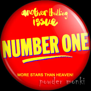 Number One (red) - Retro Music Magazine Badge/Magnet