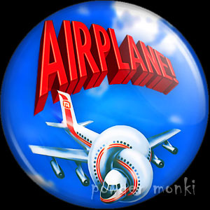 Airplane - Retro Movie Badge/Magnet