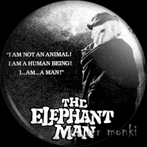 Elephant Man - Retro Movie Badge/Magnet