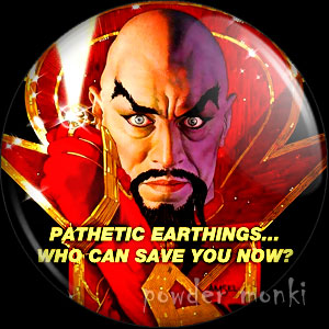 Flash Gordon: Ming the Merciless - Retro Movie Badge/Magnet