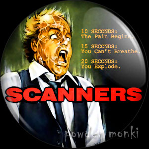 Scanners - Retro Movie Badge/Magnet
