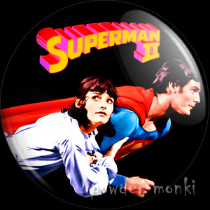 Superman II - Retro Movie Badge/Magnet
