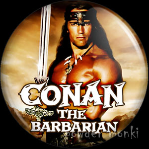 Conan The Barbarian - Retro Movie Badge/Magnet