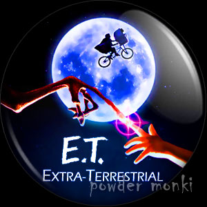 E.T. - Retro Movie Badge/Magnet