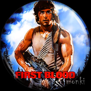 Rambo / First Blood - Retro Movie Badge/Magnet