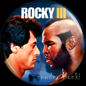 Rocky III - Retro Movie Badge/Magnet