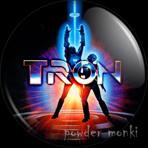 Tron - Retro Movie Badge/Magnet