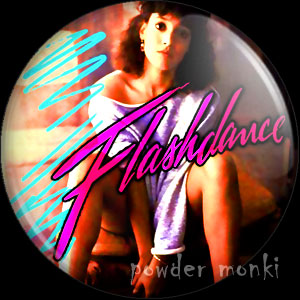 Flashdance - Retro Movie Badge/Magnet