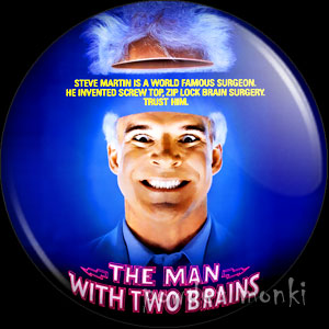 Man With Two Brains - Retro Movie Badge/Magnet