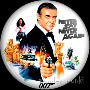 James Bond: Never Say Never Again - Retro Movie Badge/Magnet