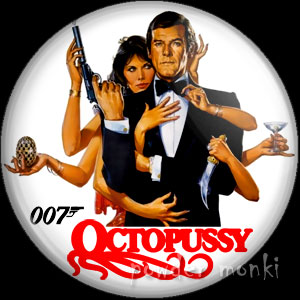 James Bond: Octopussy - Retro Movie Badge/Magnet