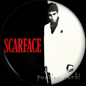 Scarface - Retro Movie Badge/Magnet