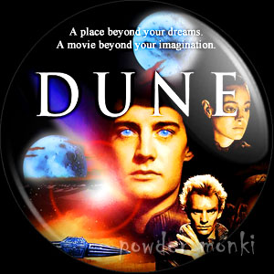 Dune - Retro Movie Badge/Magnet