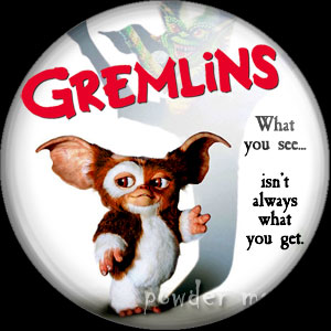 Gremlins - Retro Movie Badge/Magnet [Gizmo]