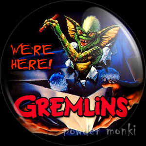 Gremlins - Retro Movie Badge/Magnet [Stripe/Mohawk]