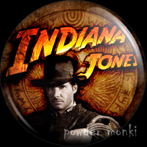 Indiana Jones - Retro Movie Badge/Magnet