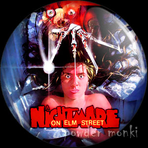 Nightmare On Elm Street - Retro Movie Badge/Magnet