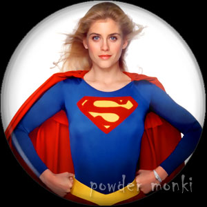 Supergirl - Retro Movie Badge/Magnet