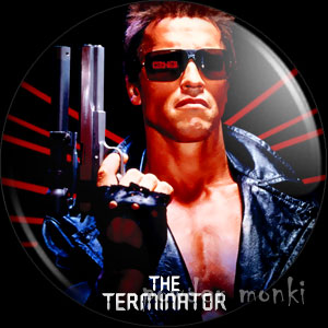 Terminator - Retro Movie Badge/Magnet