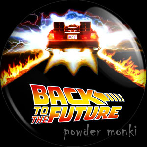 Back To The Future - Retro Movie Badge/Magnet [Delorean]
