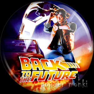 Back To The Future - Retro Movie Badge/Magnet