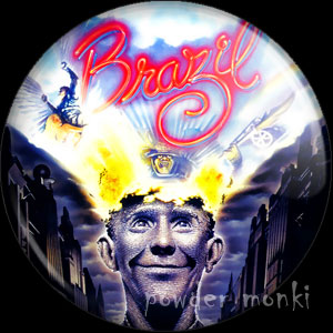Brazil - Retro Movie Badge/Magnet