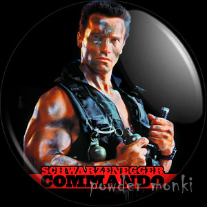 Commando - Retro Movie Badge/Magnet