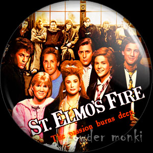 St Elmo's Fire - Retro Movie Badge/Magnet