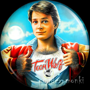 Teen Wolf - Retro Movie Badge/Magnet