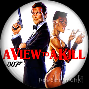 James Bond: A View To A Kill - Retro Movie Badge/Magnet