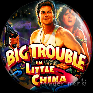 Big Trouble In Little China - Retro Movie Badge/Magnet