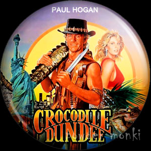 Crocodile Dundee - Retro Movie Badge/Magnet