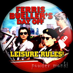 Ferris Bueller's Day Off - Retro Movie Badge/Magnet