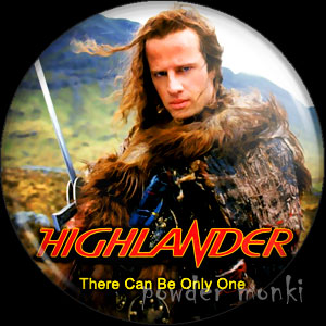 Highlander - Retro Movie Badge/Magnet