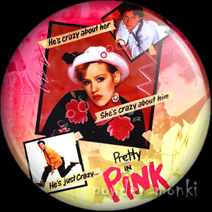 Pretty In Pink - Retro Movie Badge/Magnet