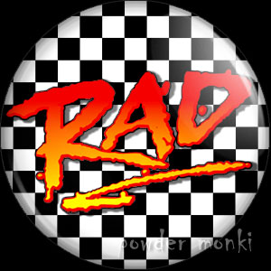 Rad - Retro Movie Badge/Magnet