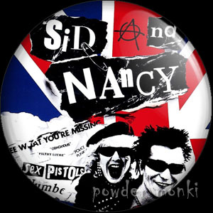 Sid and Nancy - Retro Movie Badge/Magnet