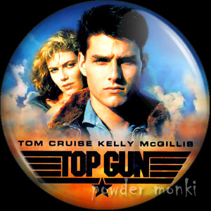 Top Gun - Retro Movie Badge/Magnet