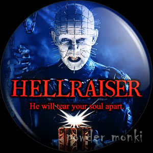Hellraiser - Retro Movie Badge/Magnet