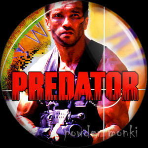 Predator - Retro Movie Badge/Magnet