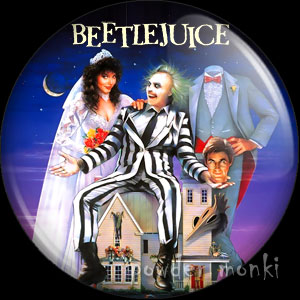 Beetlejuice - Retro Movie Badge/Magnet